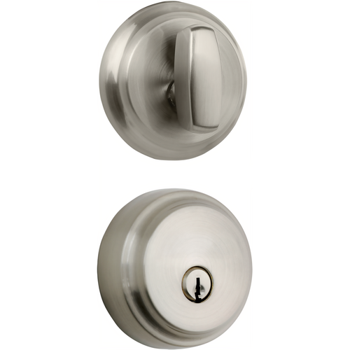 Brinks 23061-119 Almarrion Single Cylinder Deadbolt with Kwikset Keyway Satin Nickel Finish