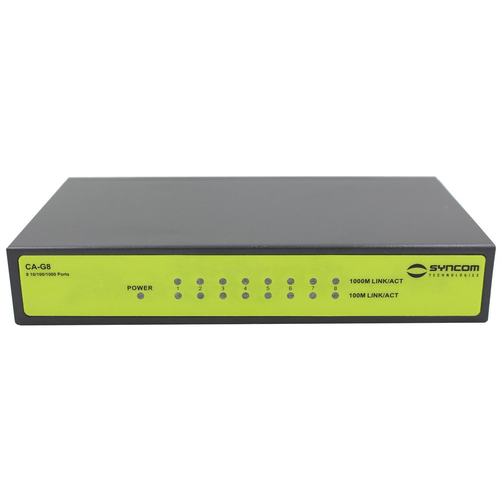 Syncom CA-G8 8 Port Switch 10/100/1000 Mbps Gb
