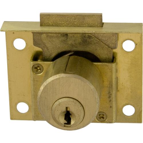 CCL 0666-1/2KA4T93 Half Mortise 7/8in Pin Drawer Lock Us26d