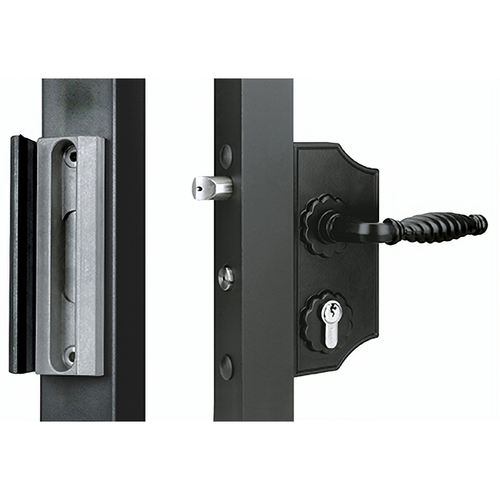 Locinox USA LK40FBL Ornamental Gate Lock For 1.5in Frame