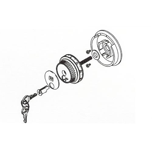 La Gard 1779 Key Locking Flat Gard Dial
