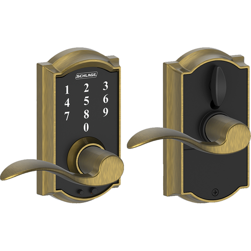 Schlage FE695CAMACC609 16-211 Touch Keypad Lever Camelot/accent