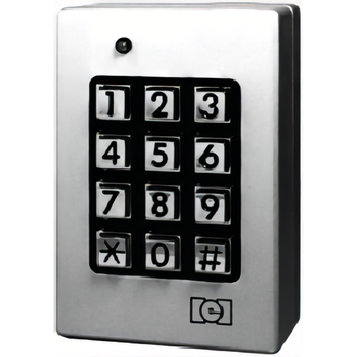 IEI 212SE Indoor / Outdoor Surface Mounted Weather Resistant Keypad for 120 Users Satin Stainless Steel Finish