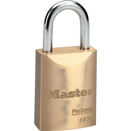Master Lock 6830KA10G012 Pro Padlock Brass 1-1/2in Wide