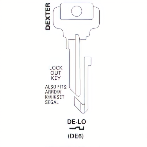JET DE-LO Kwikset Lockout Key