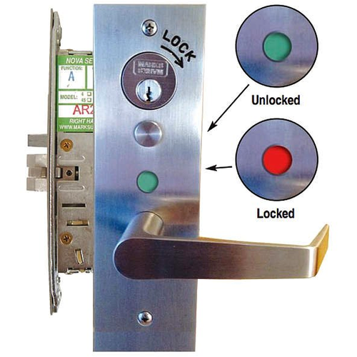 Marks Hardware LA318GJ/32D RHR Classroom Security Indicator Mort Lock
