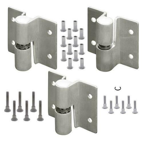 Jacknob 67563 Hinge-Surface Mounted (Lh-In/Rh-Out) Rd. Barrel (2T/1B Of 7123) Ss-6Lp