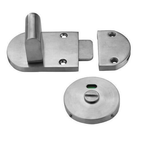 Jacknob 124423 Latch Slide S/M-Indicator-W/Keeper-Cast Stainless