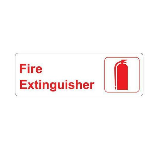 Jacknob 130812 Sign Fire Extinguisher - Red And White 9