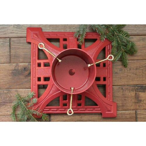 John Wright 061701NV Red Heirloom Tree Stand - Imported