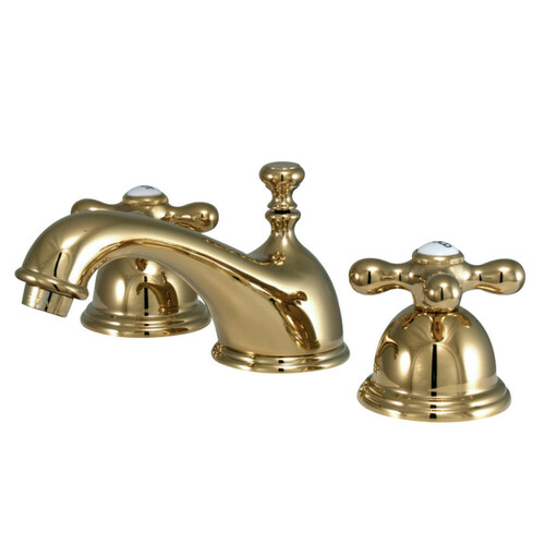 Kingston Brass CC37L2 8 to 16 in. Widespread Bathroom Faucet, Polished Brass