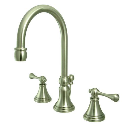 Kingston Brass KS2988BL 8 in. Widespread Bathroom Faucet, Brushed Nickel
