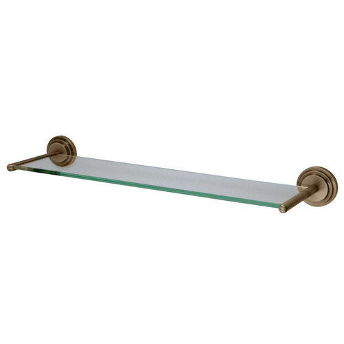 Kingston Brass BA2719AB Milano Cosmetic Glass Shelf, Antique Brass