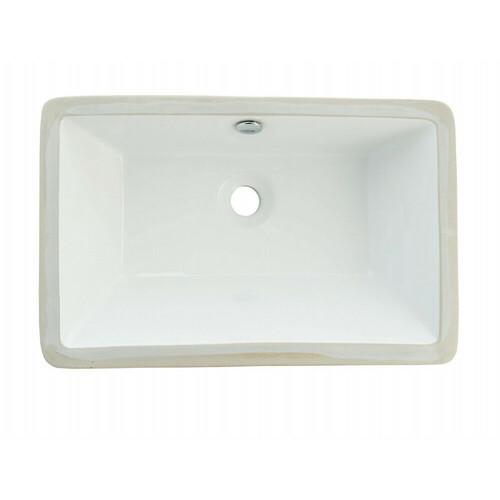 Kingston Brass LB21137 Castillo Undermount Bathroom Sink, White