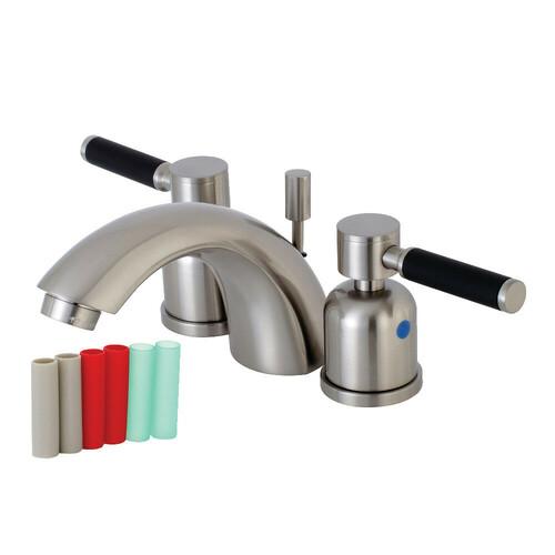 Kingston Brass KB8958DKL Mini-Widespread Bathroom Faucet, Brushed Nickel