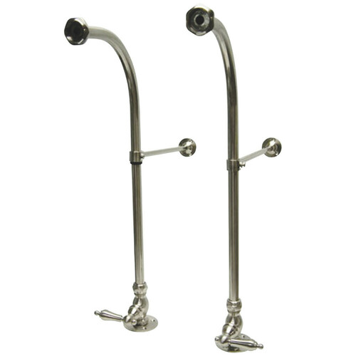 Kingston Brass CC458ML Rigid Freestand Supplies with Stops, Brushed Nickel