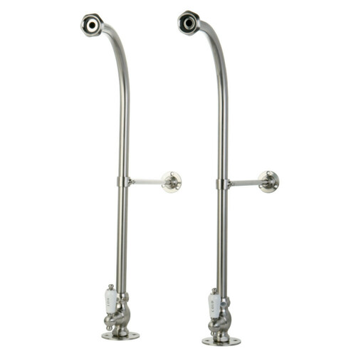 Kingston Brass CC458HCL Rigid Freestand Supplies with Stops, Brushed Nickel