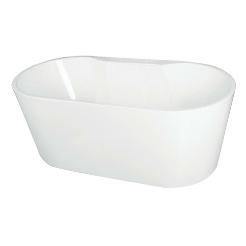 Kingston Brass VT7DE633023 63-Inch Acrylic Freestanding Tub with Deck for Faucet Installation, White