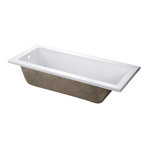 Kingston Brass XVTPN672817 67-Inch Acrylic Rectangular Drop-In Tub with Reversible Drain Hole, White