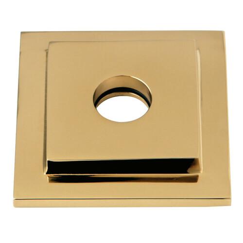 Kingston Brass FLSQUARE2 Claremont Heavy Duty Square Solid Cast Brass Shower Flange, Polished Brass
