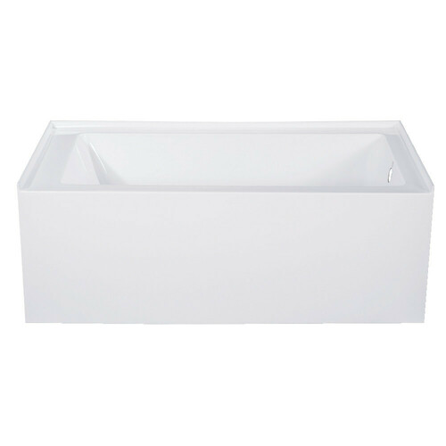 Kingston Brass VTAP543022R 54-Inch Acrylic Alcove Tub with Right Hand Drain Hole, White