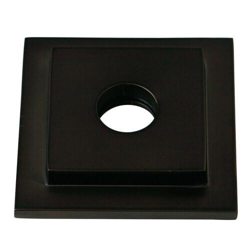 Kingston Brass FLSQUARE5 Claremont Heavy Duty Square Solid Cast Brass Shower Flange, Oil Rubbed Bronze
