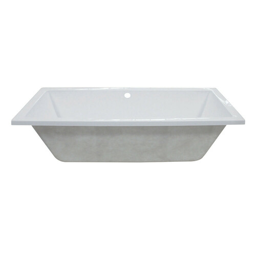 Kingston Brass VTPN593017C 59-Inch Acrylic Rectangular Drop-In Tub with Center Drain Hole, White