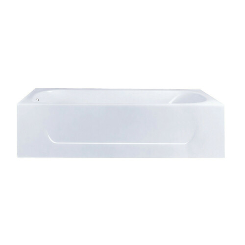 Kingston Brass VCTAP603015L 60-Inch Cast Iron Alcove Tub with Left Hand Drain Hole, White