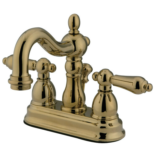 Kingston Brass KB1602ALB 4 in. Centerset Bathroom Faucet, Polished Brass