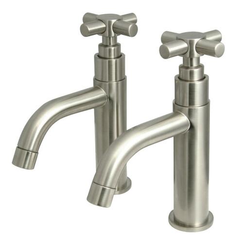 Kingston Brass KS8228EX Elinvar Basin Faucet, Brushed Nickel