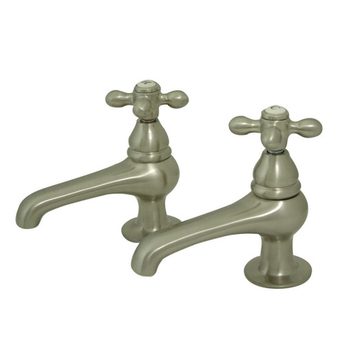 Kingston Brass KS3208AX Restoration Basin Tap Faucet, Brushed Nickel