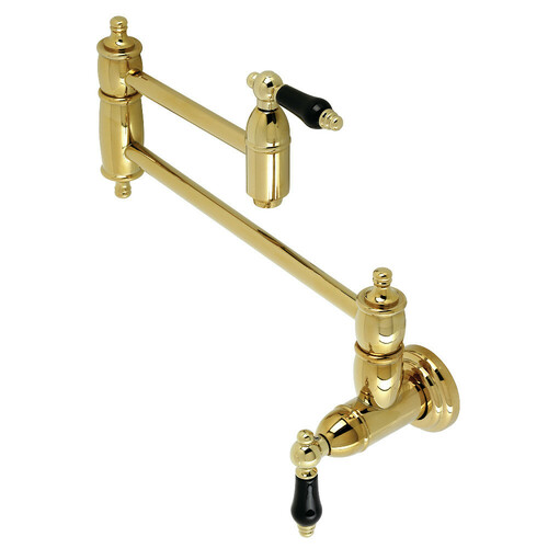 Kingston Brass KS3102PKL Duchess Wall Mount Pot Filler, Polished Brass