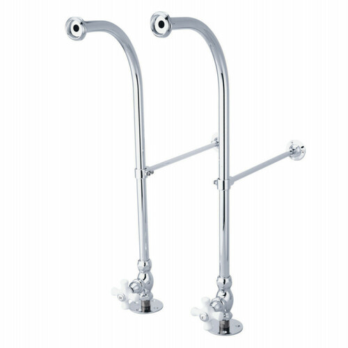 Kingston Brass CC451CX Rigid Freestand Supplies with Stops, Polished Chrome