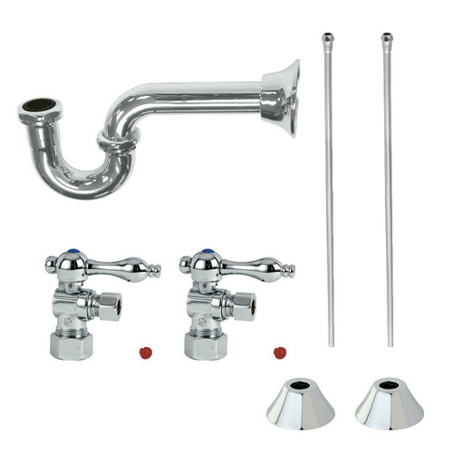 Kingston Brass CC53301LKB30 Traditional Plumbing Sink Trim Kit with P-Trap, Polished Chrome