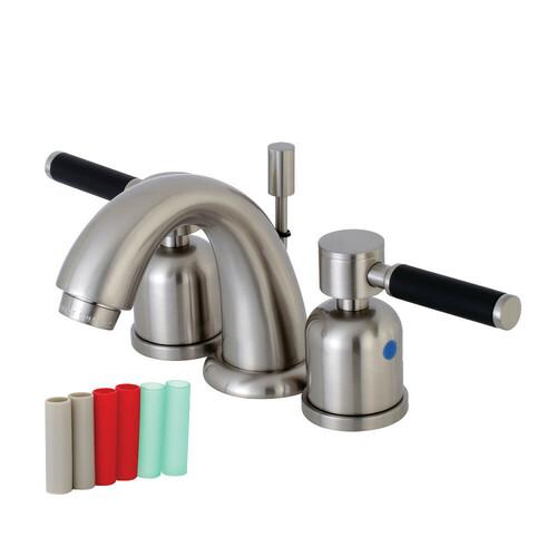 Kingston Brass KB8918DKL Kaiser Widespread Bathroom Faucet, Brushed Nickel