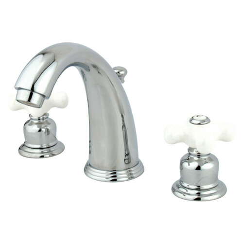 Kingston Brass KB981PX Victorian 2-Handle 8 in. Widespread Bathroom Faucet, Polished Chrome