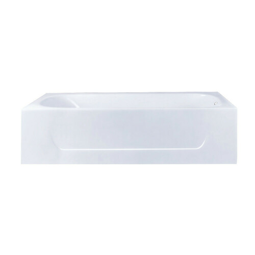 Kingston Brass VCTAP603015R 60-Inch Cast Iron Alcove Tub with Right Hand Drain Hole, White