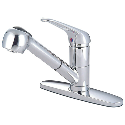 Kingston Brass KS881C Pull-Out Kitchen Faucet, Polished Chrome