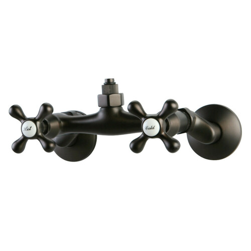 Kingston Brass CC2135 Wall Mount Tub Filler Faucet with Riser Adapter, Oil Rubbed Bronze