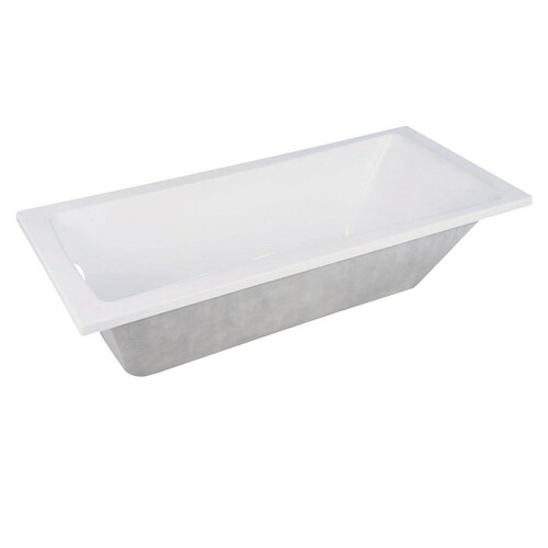 Kingston Brass VTPN593017 59-Inch Acrylic Rectangular Drop-In Tub with Reversible Drain Hole, White