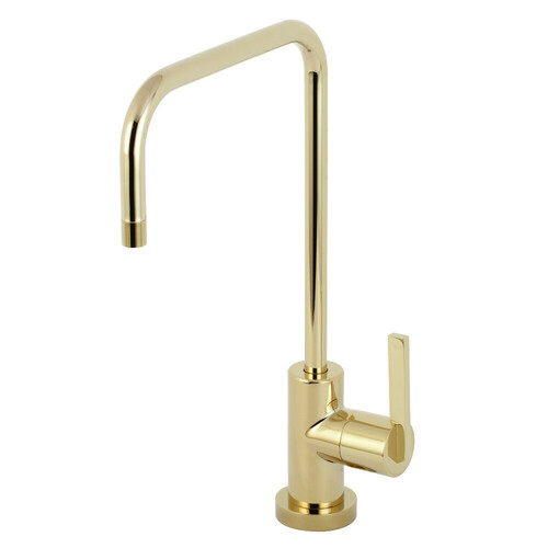 Kingston Brass KS6192CTL Continental Single-Handle Water Filtration Faucet, Polished Brass