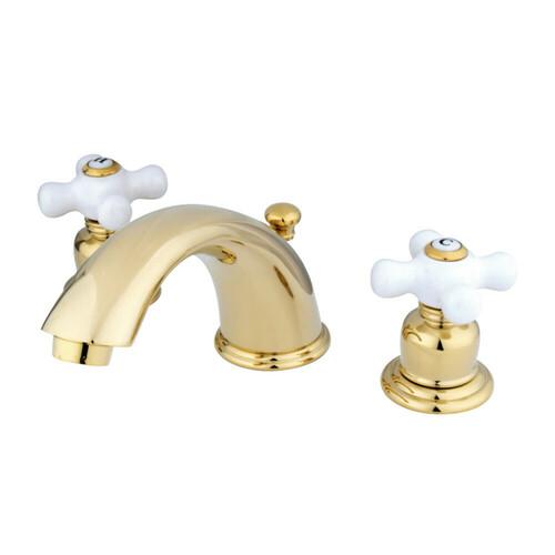 Kingston Brass GKB962PX Widespread Bathroom Faucet, Polished Brass