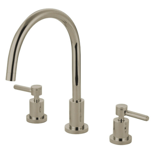 Kingston Brass KS8726DLLS Widespread Kitchen Faucet, Polished Nickel