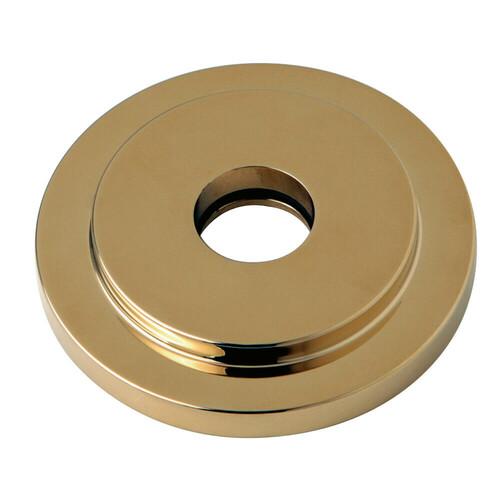 Kingston Brass FLEURO2 Manhattan Heavy Duty Round Solid Cast Brass Shower Flange, Polished Brass