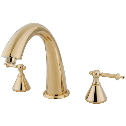 Kingston Brass KS2362TL Roman Tub Faucet, Polished Brass