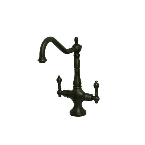 Kingston Brass KS1775ALLS Heritage Single Hole Kitchen Faucet, Oil Rubbed Bronze