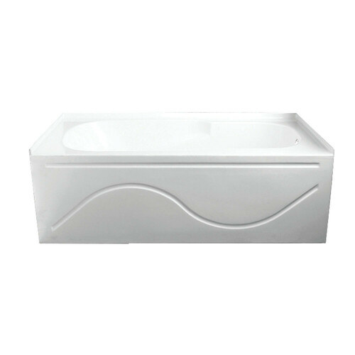 Kingston Brass VTAP603216R 60-Inch Acrylic Anti-Skid Alcove Tub with Right Hand Drain Hole, White