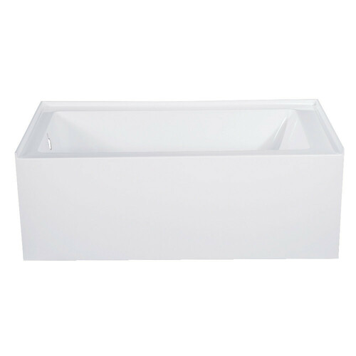 Kingston Brass VTAP543022L 54-Inch Acrylic Alcove Tub with Left Hand Drain Hole, White