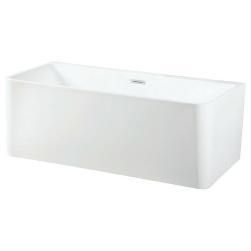 Kingston Brass VTSQ673023 67-Inch Acrylic Freestanding Tub with Drain, White