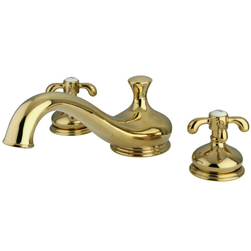 Kingston Brass KS3332TX French Country Roman Tub Faucet, Polished Brass